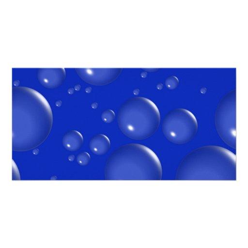 Blue Bubble Bookmark Photo Card