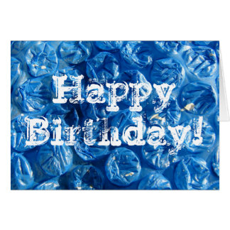Blue Bubble Texture, Happy Birthday! Card