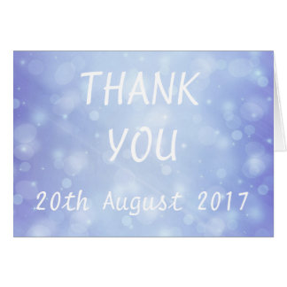 Blue Bubble Vintage Wedding Thank You Card