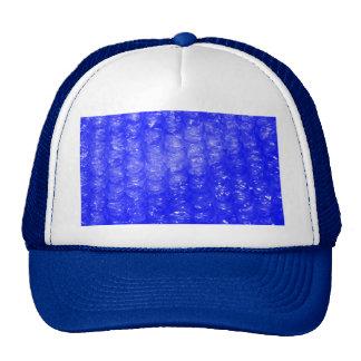 Blue Bubble Wrap Effect Hats