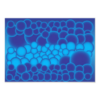 Blue Bubbles 13 Cm X 18 Cm Invitation Card