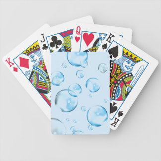 Blue Bubbles Bicycle Playing Cards