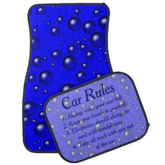 Blue Bubbles Car Rules Car Mat