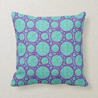 Blue Bubbles Cotton Pillow