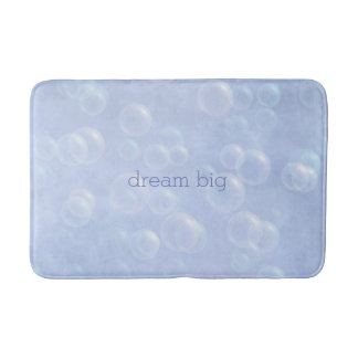 Blue Bubbles Dream Big bath mat