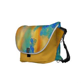 """""""Blue Bubbles in Saffron"""" Messenger Bag"""