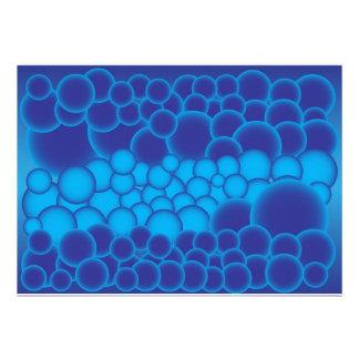 Blue Bubbles Personalized Invitation