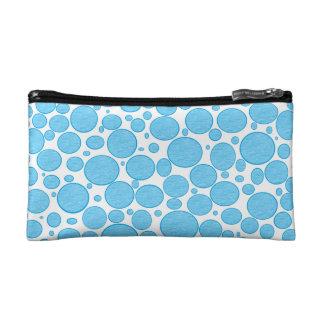 Blue Bubbles Lightened Makeup Bag