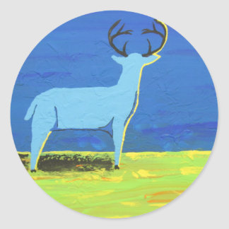 Blue Buck Classic Round Sticker