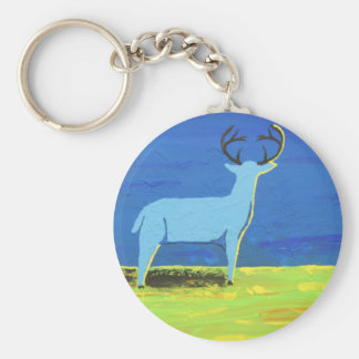 Blue Buck Key Ring