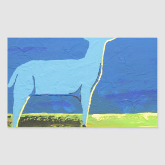 Blue Buck Rectangular Sticker