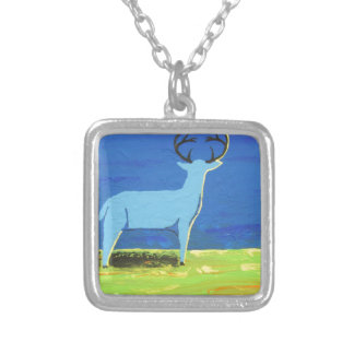 Blue Buck Silver Plated Necklace