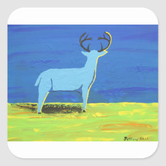 Blue Buck Square Sticker