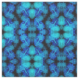 Blue Buddha Kaleidoscope Fabric