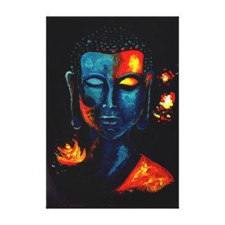 Blue Buddha Meditating Canvas Print