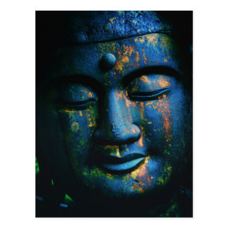 Blue Buddha Om Peace Postcard