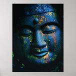 Blue Buddha Om Peace Poster