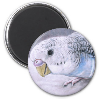 """Blue Budgie"" Bird Art Magnet"