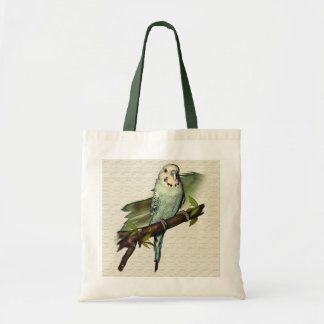 Blue Budgie Canvas Tote Budget Tote Bag