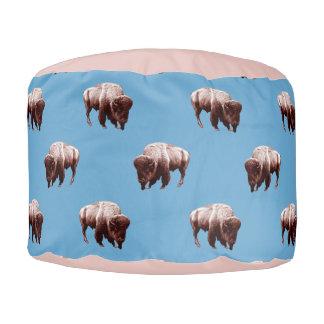 Blue Buffalo Herd Pouf