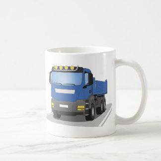 blue building sites truck coffee mug