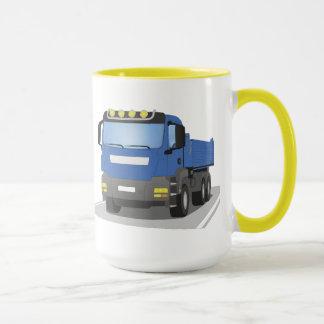 blue building sites truck mug