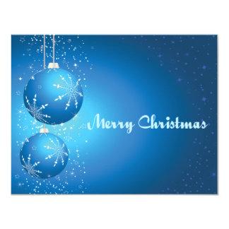Blue Bulbs 4.25x5.5 Paper Invitation Card