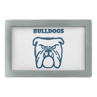 Blue Bulldog Belt Buckle
