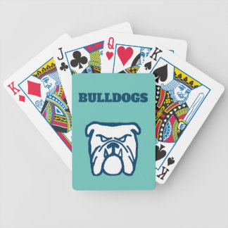 Blue Bulldog Bicycle Playing Cards
