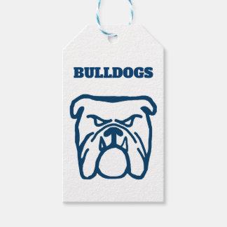 Blue Bulldog Gift Tags