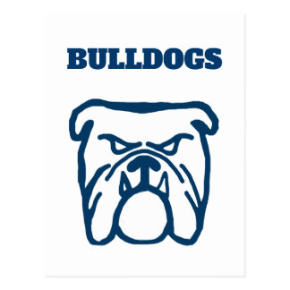 Blue Bulldog Postcard