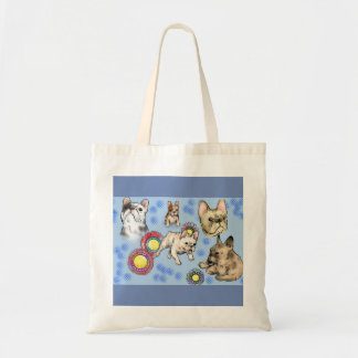 Blue Bullies at Play Tote