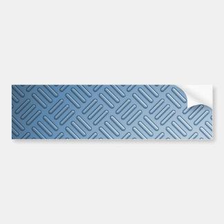 Blue Bumped Metal Textured Bumper Sticker