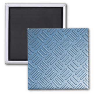 Blue Bumped Metal Textured Square Magnet