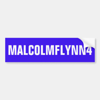 BLUE BUMPER STICKER WITH MALCOLMFLYNN4