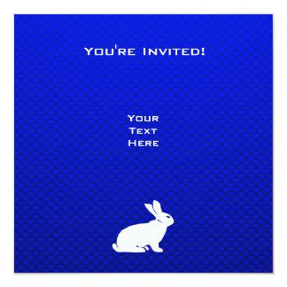 Blue Bunny 13 Cm X 13 Cm Square Invitation Card
