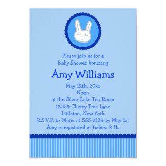 Blue Bunny Baby Shower Invitations