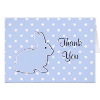 Blue Bunny Baby Thank You Note Card