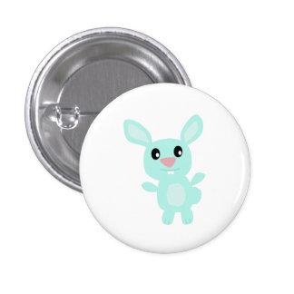 Blue Bunny Pinback Button