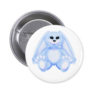blue bunny button