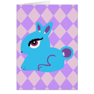 Blue Bunny Greeting Cards
