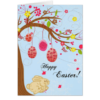 Blue Bunny Greeting Card