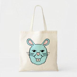 Blue Bunny Head Tote bag