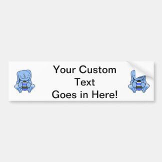 Blue bunny holding egg png bumper stickers