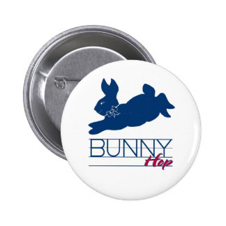 Blue Bunny Hop Pinback Buttons