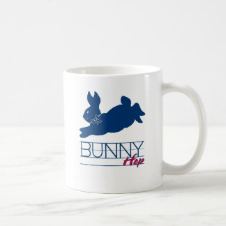 Blue Bunny Hop Classic White Coffee Mug