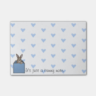 blue bunny-in-the-box sticky note