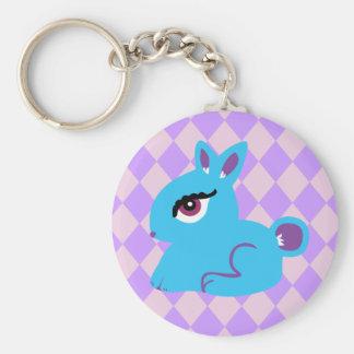 Blue Bunny Keychain