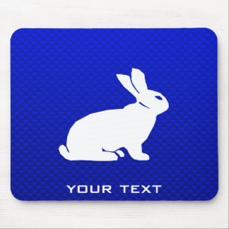 Blue Bunny Mouse Pad