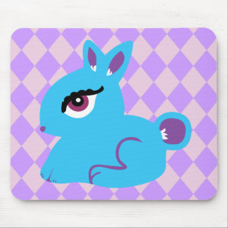 Blue Bunny Mouse Pads